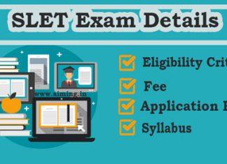 SLET Exam Details