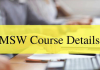 MSW Course Details