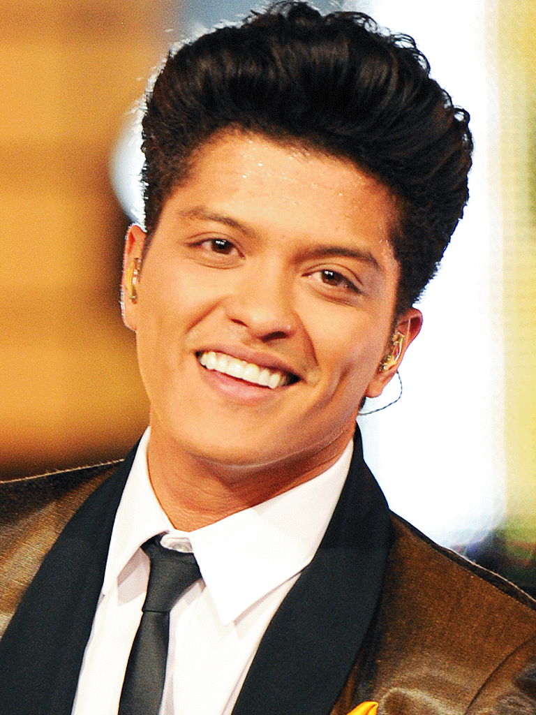 does bruno mars write his own songs His stage name is bruno mars and real name is peter gene hernandez he is an amazing singer, writes the most perfect lyrics, has a beutiful smile and gorgous eyes hope i have helped you :) x.