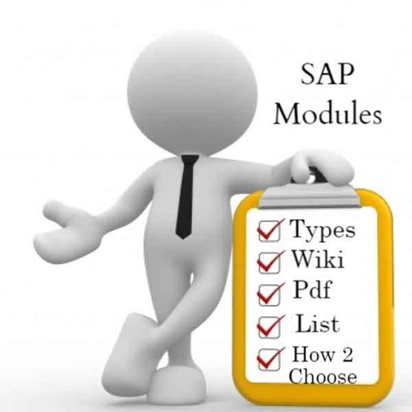 SAP-Modules List