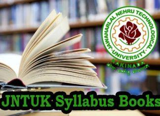 JNTUK Syllabus Books