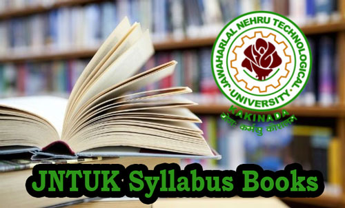 JNTUK Syllabus Books PDF Free Download for All Branches