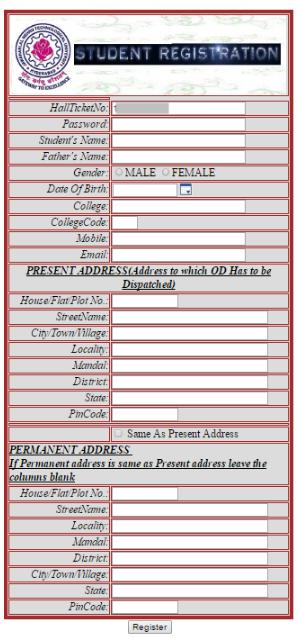 OD Student Registration