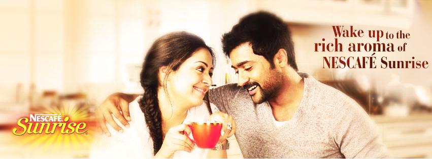 Surya And Jyothika Nescafe