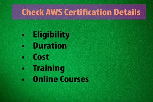 AWS Certification Details