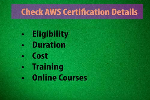 AWS Certification Details