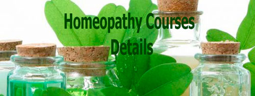 Homeopathy Courses Details