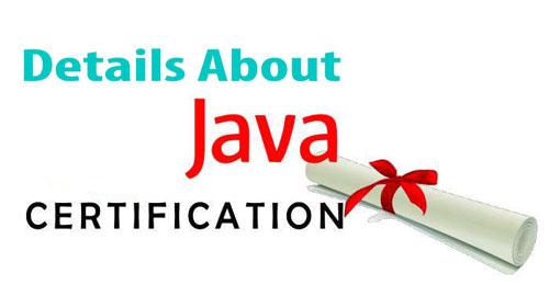 JAVA Certification Details