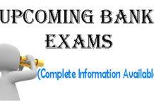 Upcoming Bank Exams