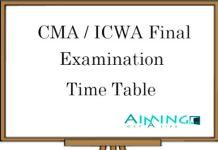 CMA Final Exam Details