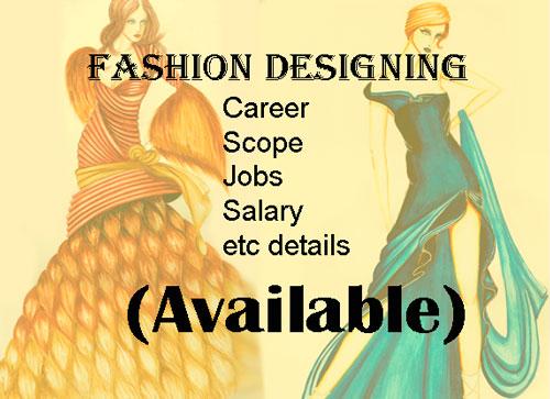 Fashion Designing Career
