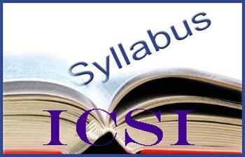 ICSI Syllabus