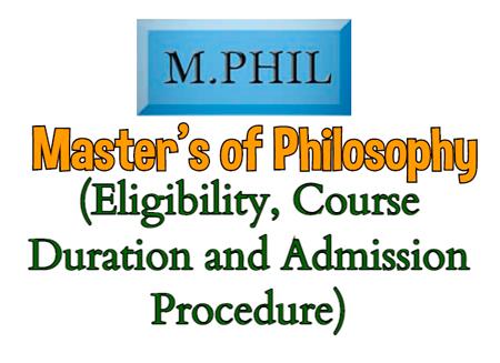 MPhil Course Details