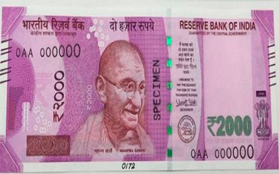 New Rs 2000 Note Image