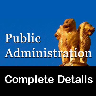 Public Administratiion Course Details