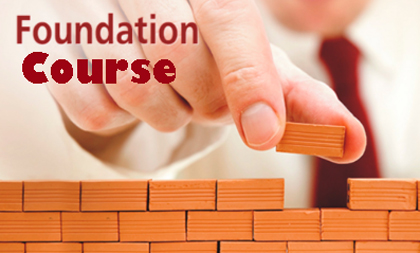 foundation course The course is divided into two sessions: session 1 this is the first two days, which accustom the the course can be taken as a single four-day course, or as two x two days separated by a month.