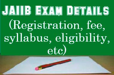 JAIIB Exam Details