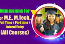 M.E or M.Tech Course
