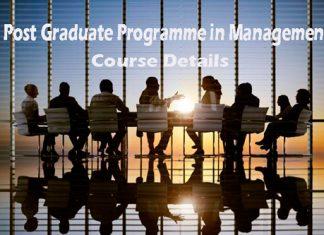 Post Graduate Programme in Management Course Details