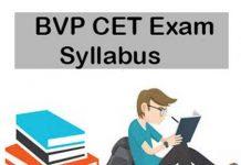 BVP CET Exam Details
