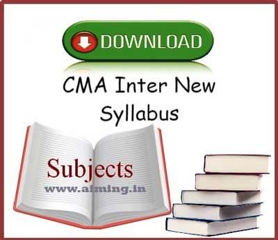 CMA Inter Syllabus