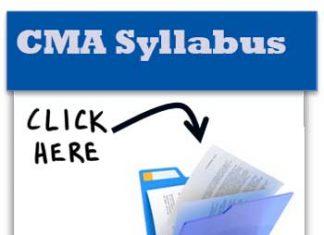 CMA Syllabus 2017 Pdf