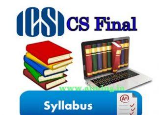 CS Final Syllabus