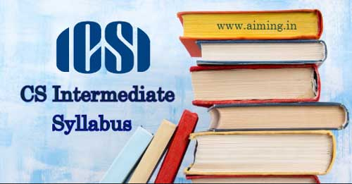CS Intermediate Syllabus