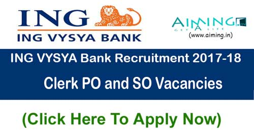 ING VYSYA Bank Recruitment