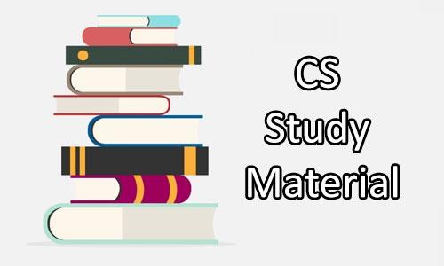 CS Study Material