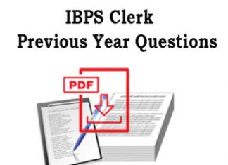 IBPS Clerk Previous Year Questions