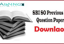 SBI SO Previous Year Papers