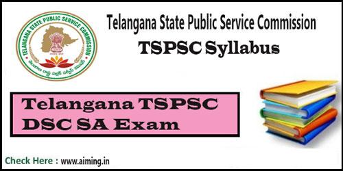 TSPSC DSC SA Syllabus