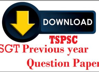 TSPSC DSC SGT Previous Papers