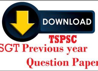 TSPSC DSC SGT Previous Papers