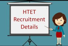 HTET Recruitment Details
