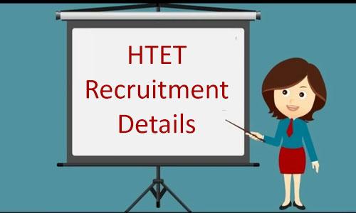 HTET Recruitment Details