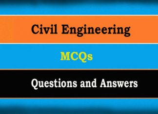 Civil Engineering Objective Questions MCQs and Answers