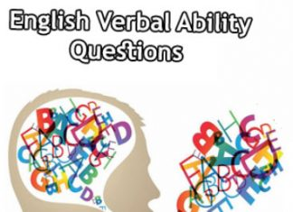 English Verbal Ability Questions and Answers