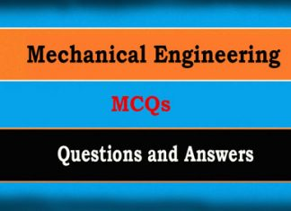 Mechanical Engineering Objective Questions MCQs and Answers