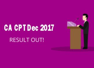 CA CPT Dec 2017 Result