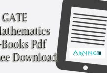 GATE Mathematics E-Books Pdf Free Download