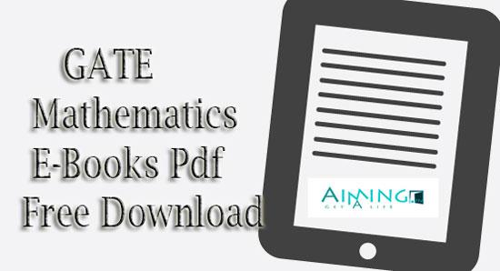 GATE Mathematics E-Books Pdf Free Download