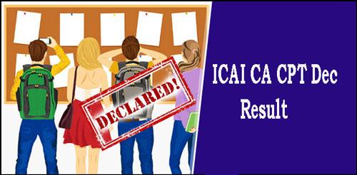 ICAI CA CPT Dec Result