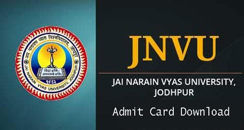 JNVU Admit Card