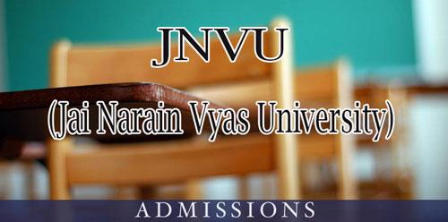 JNVU Jodhpur Admission