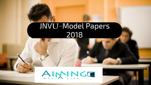 JNVU Solved Question Papers