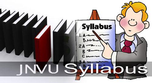 JNVU Syllabus