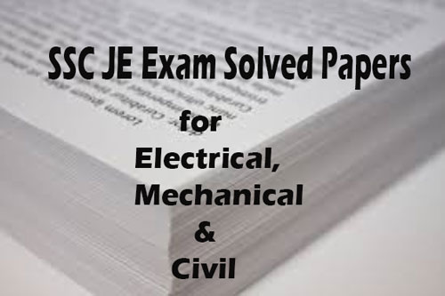 SSC JE Exam Solved Papers