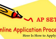 AP SET Online Application Process
